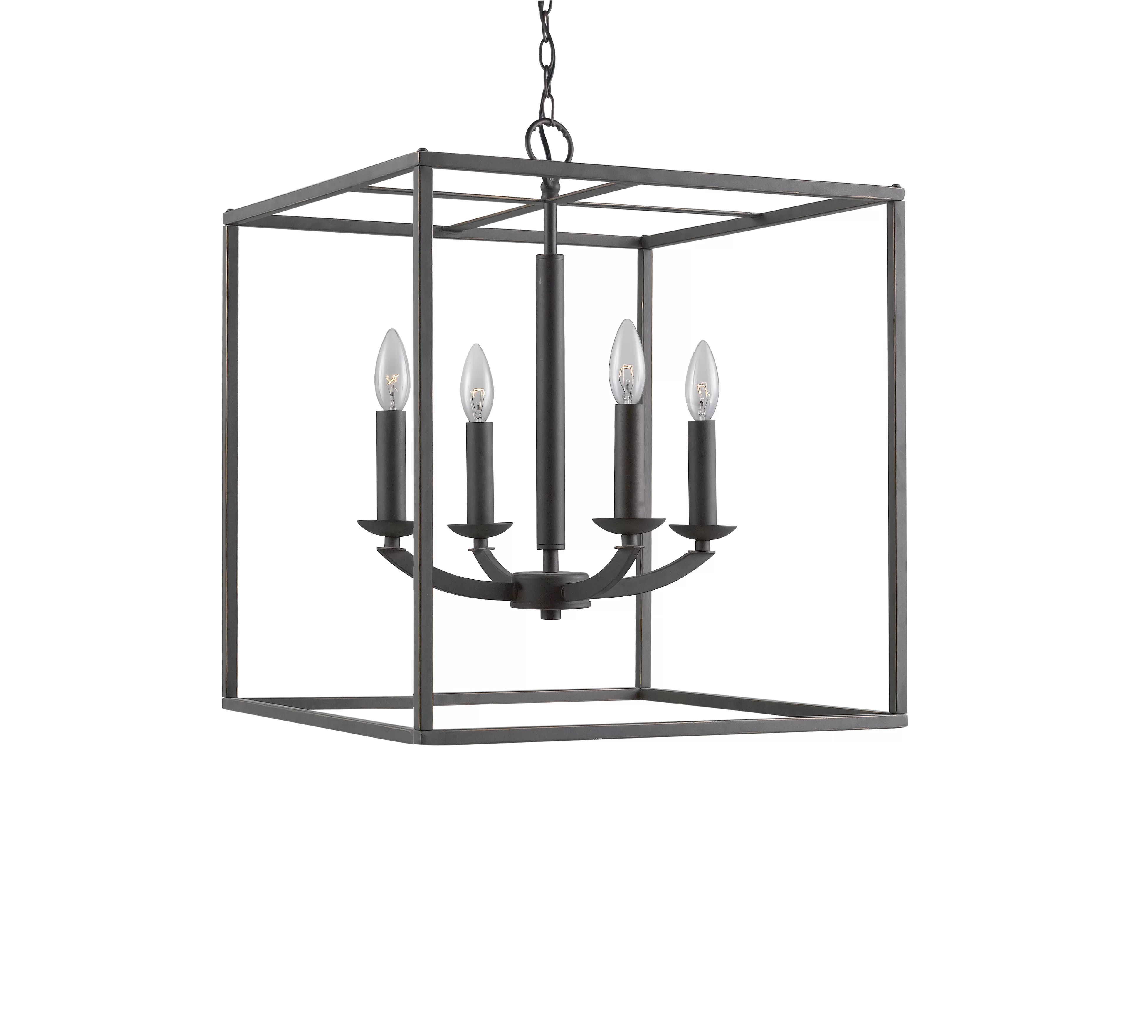Three Posts Dearmond 4 Light Square Rectangle Chandelier
