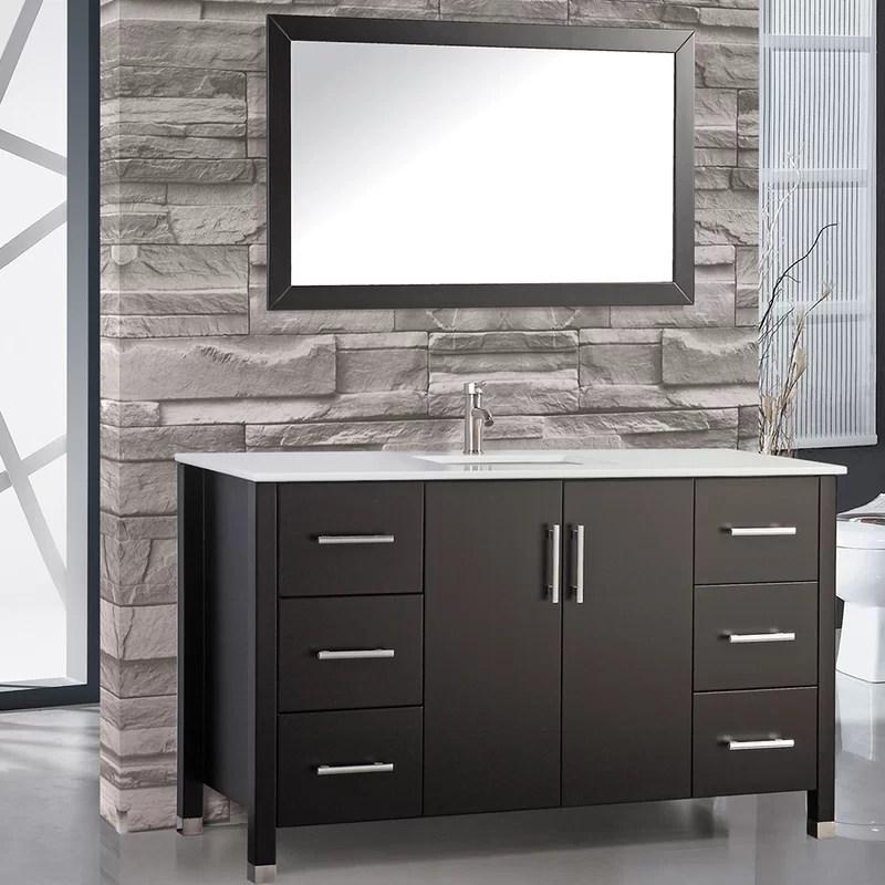 """wade logan charie 48"""" single sink bathroom vanity set with mirror"""