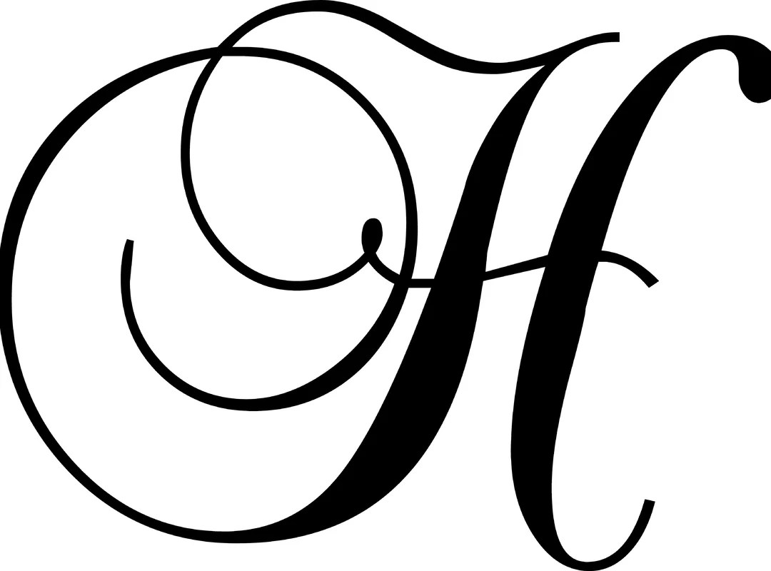 Enchantingly Elegant Letter H Wall Decal Amp Reviews