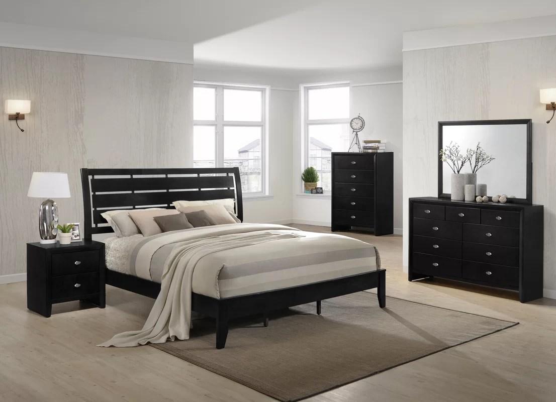 roundhill furniture gloria platform 5 piece bedroom set & reviews