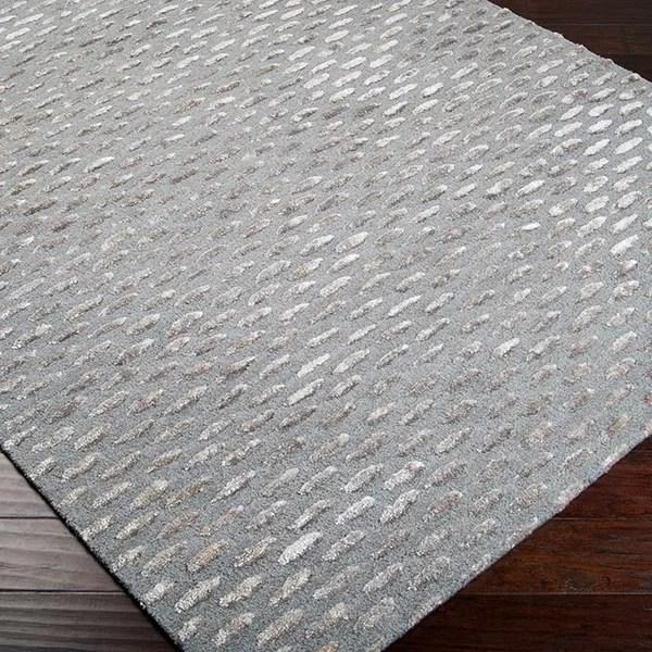Alanis Gray Amp Silver Geometric Wool Hand Tufted Area Rug