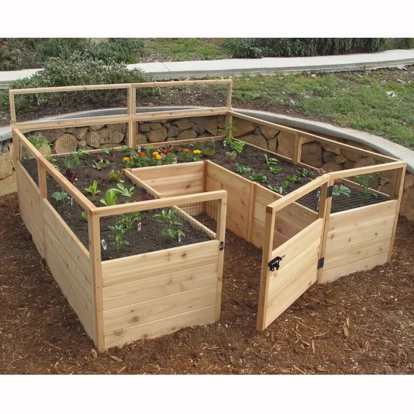 Raised Garden Beds Amp Elevated Planters Youll Love Wayfair