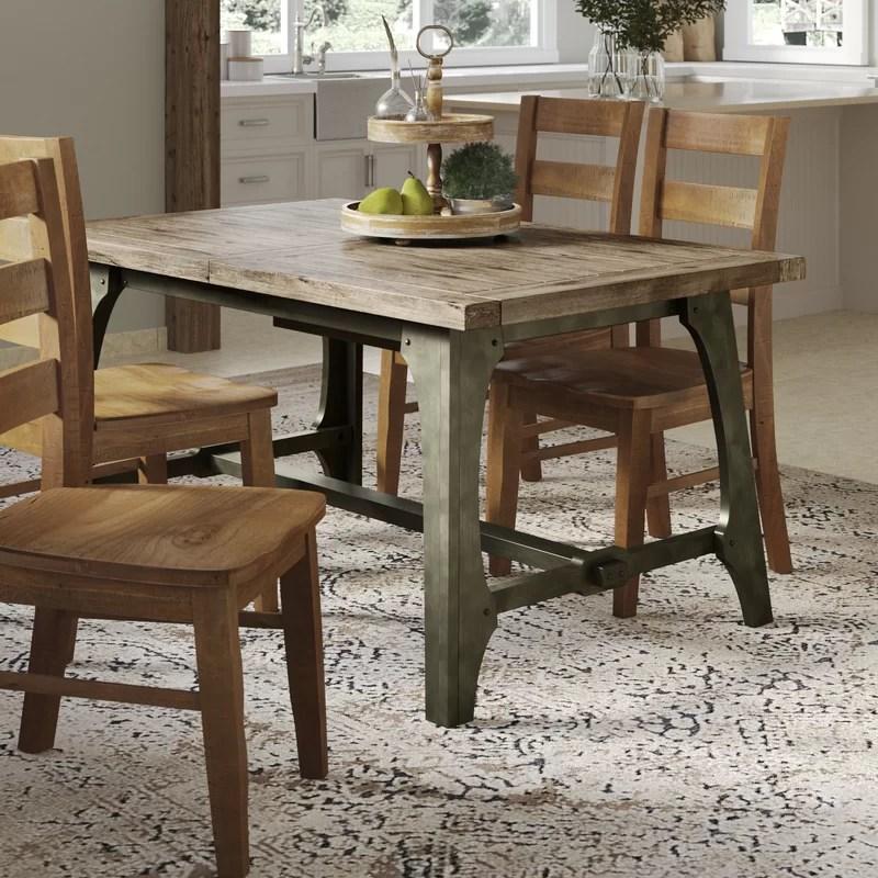gracie oaks casimir extendable solid wood dining table on solid wood dining table id=53486