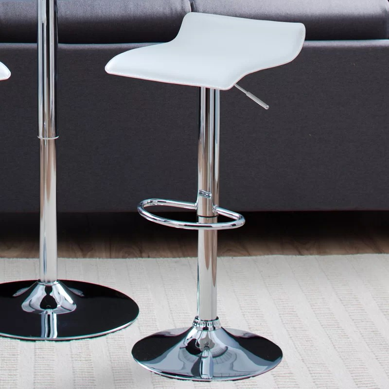 Zipcode Design Bette Adjustable Height Swivel Bar Stool