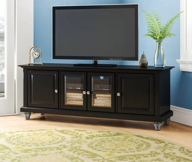 Charlton Home Allingham Low Profile Tv Stand For Tvs Up To 60 Reviews Wayfair Ca