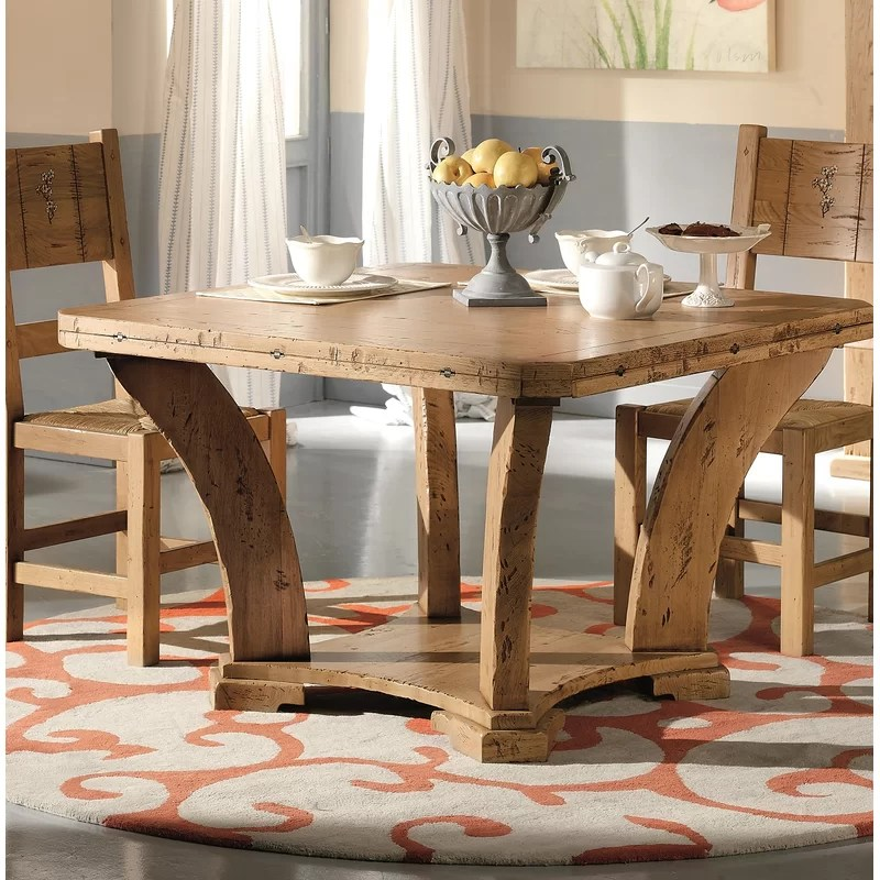 loon peak jacobs extendable solid wood dining table wayfair on solid wood dining table id=81444