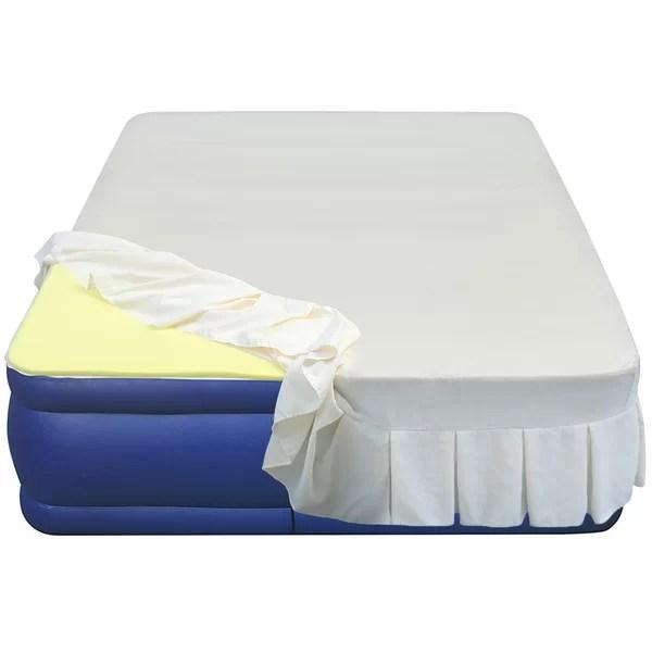 Altimair Essentials Airbed High 3 4 Density Memory Foam Mattress Topper Reviews Wayfair