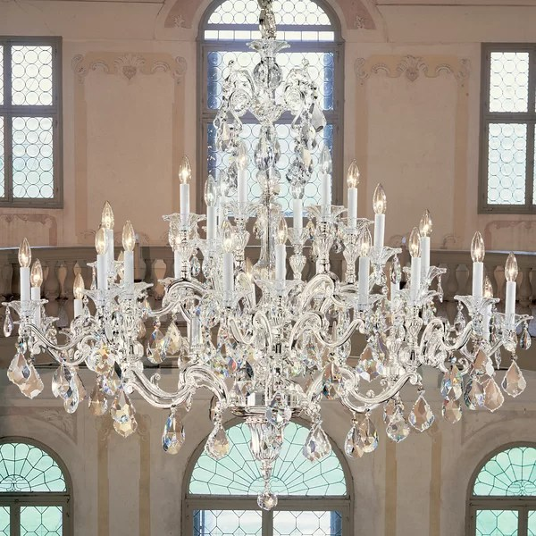 Classic Lighting Via Firenze 30 Light Crystal Chandelier Reviews Wayfair