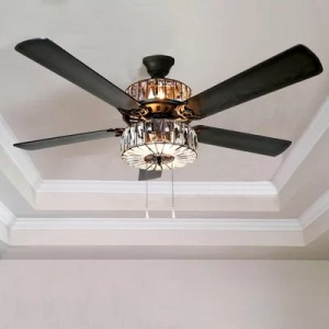 River of Goods 52  Caged Crystal 5 Blade Ceiling Fan with Remote     52  Caged Crystal 5 Blade Ceiling Fan with Remote