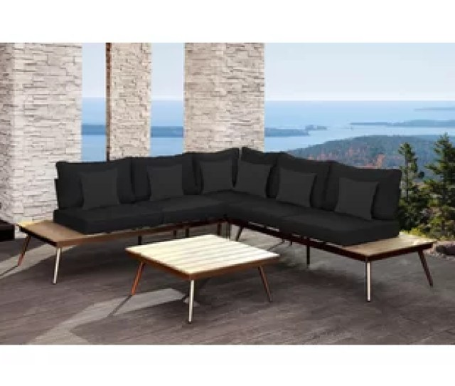 Wisner Outdoor Modular  Piece Sectional Set With Cushions