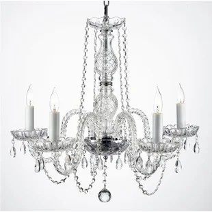 Josue 5 Light Crystal Chandelier