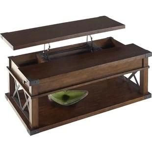 leather top coffee table | wayfair.ca