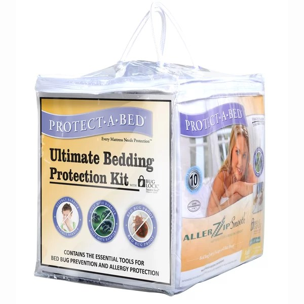 Protect A Bed Ultimate Bug Hypoallergenic Waterproof Mattress Protector Kit Reviews Wayfair