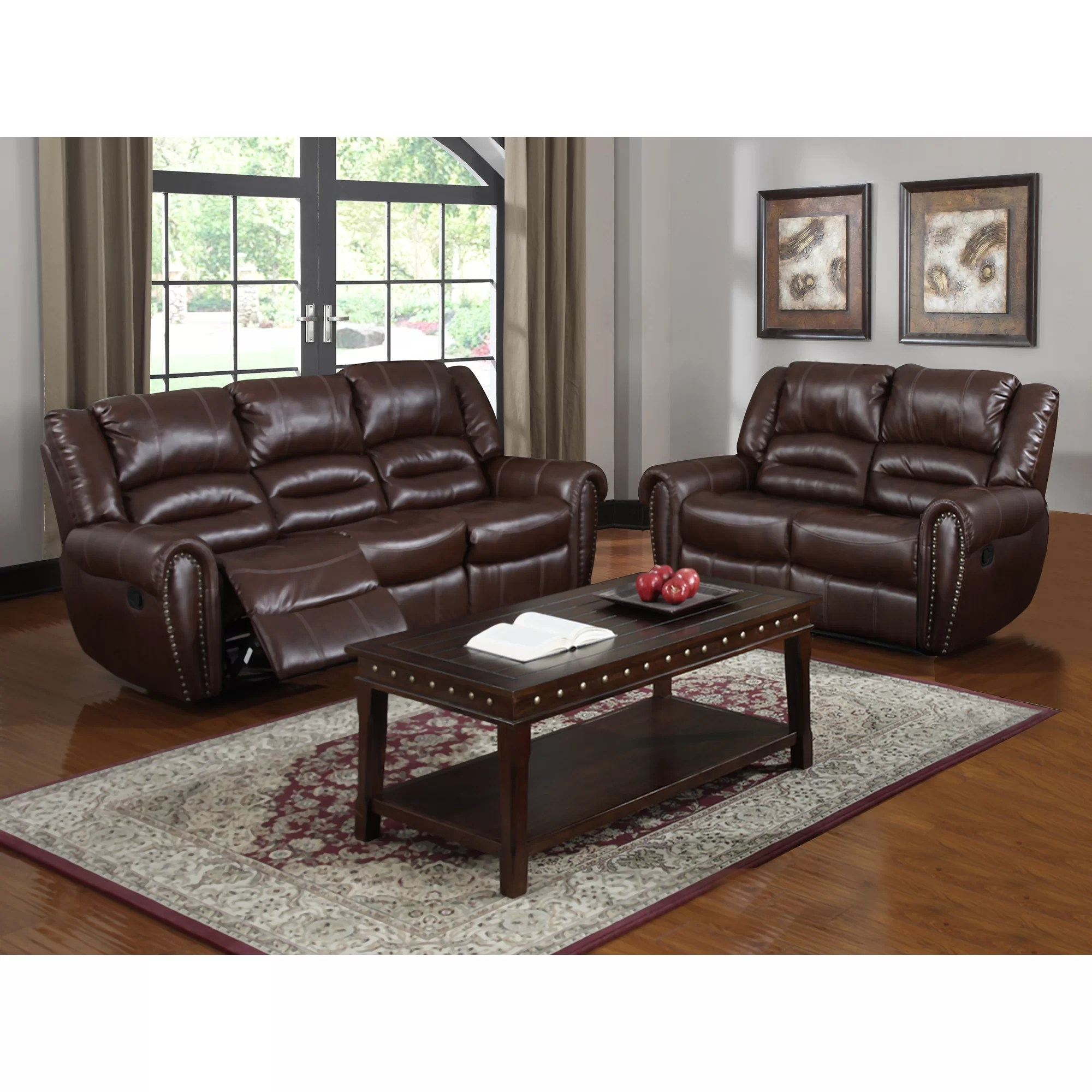 Brady Leather Sofa Brady Red Brown Leather Living Room Set