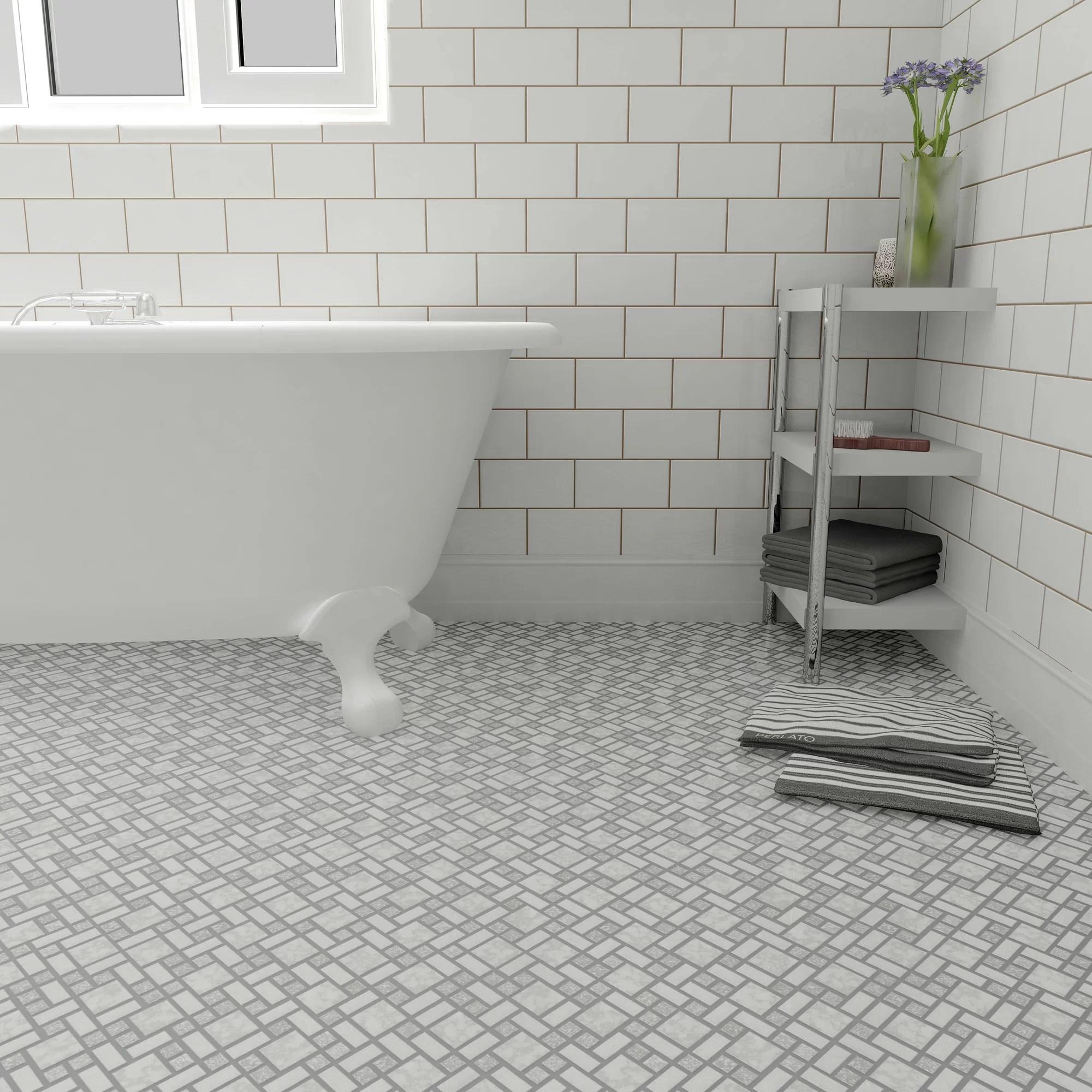EliteTile Academy Random Sized Porcelain Mosaic Tile In