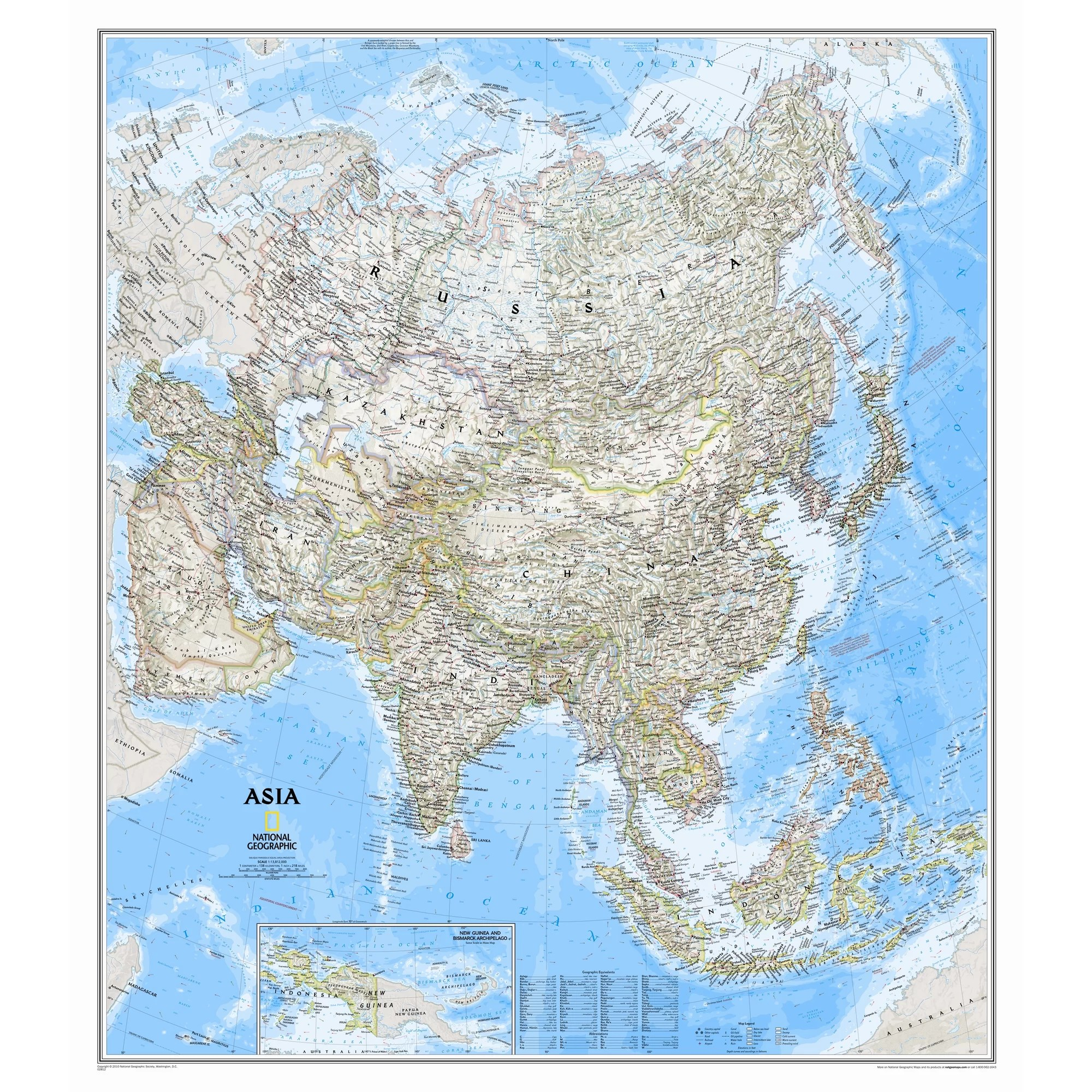 National Geographic Maps Asia Classic Wall Map Amp Reviews