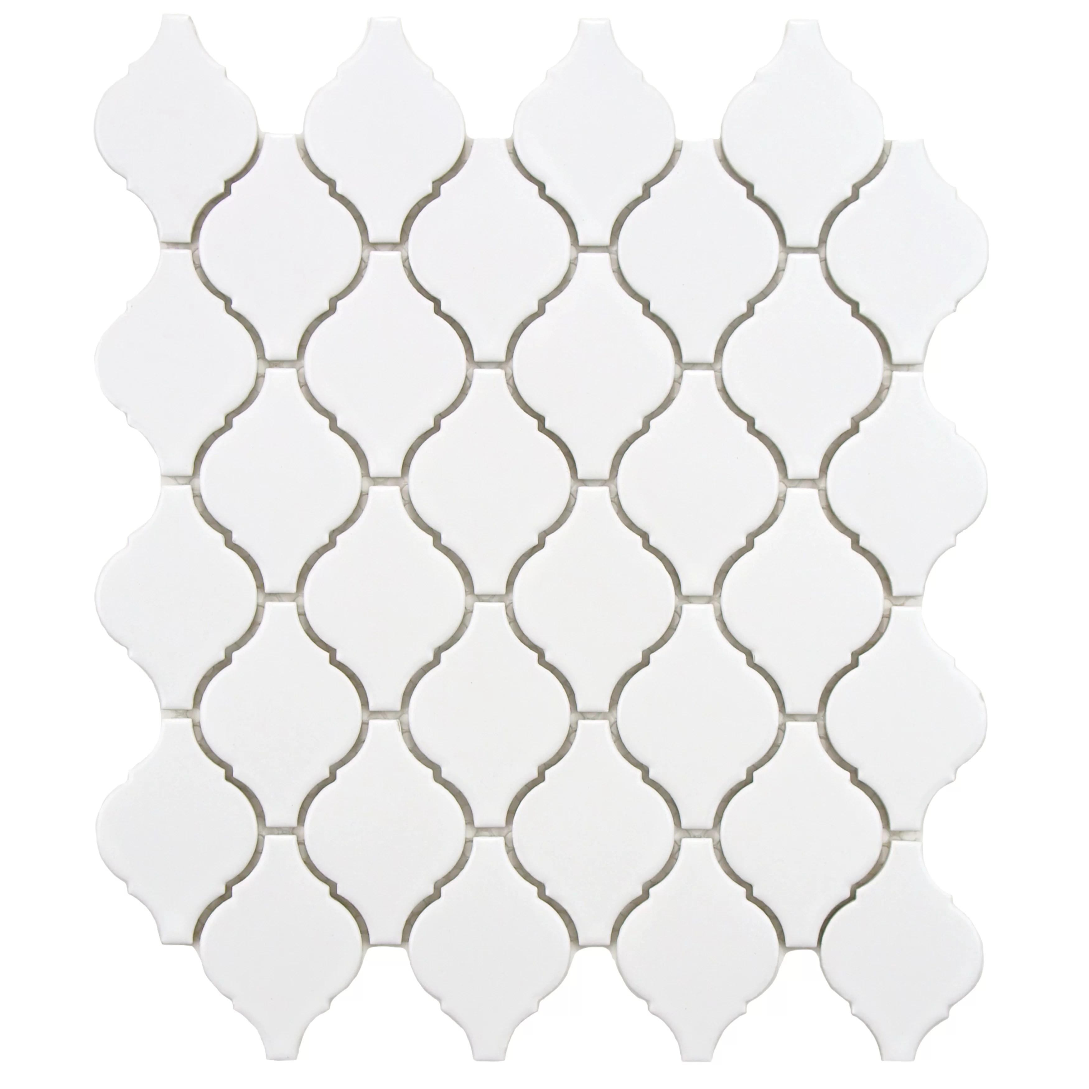 Elitetile Arabesque 1 87 X 2 75 Porcelain Mosaic Tile In
