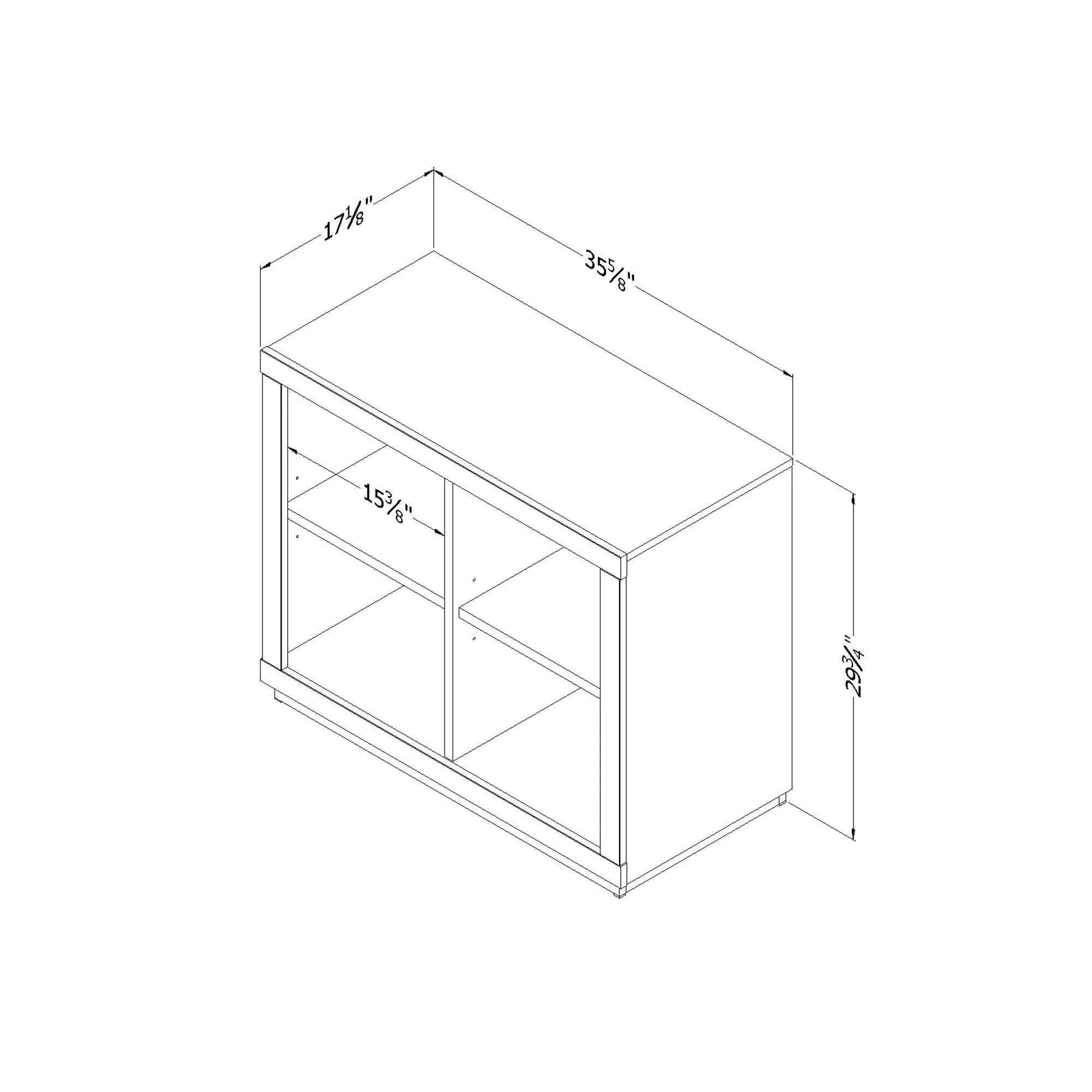 South Shore Kanji 4 Cube Shelving Unit 30 Standard