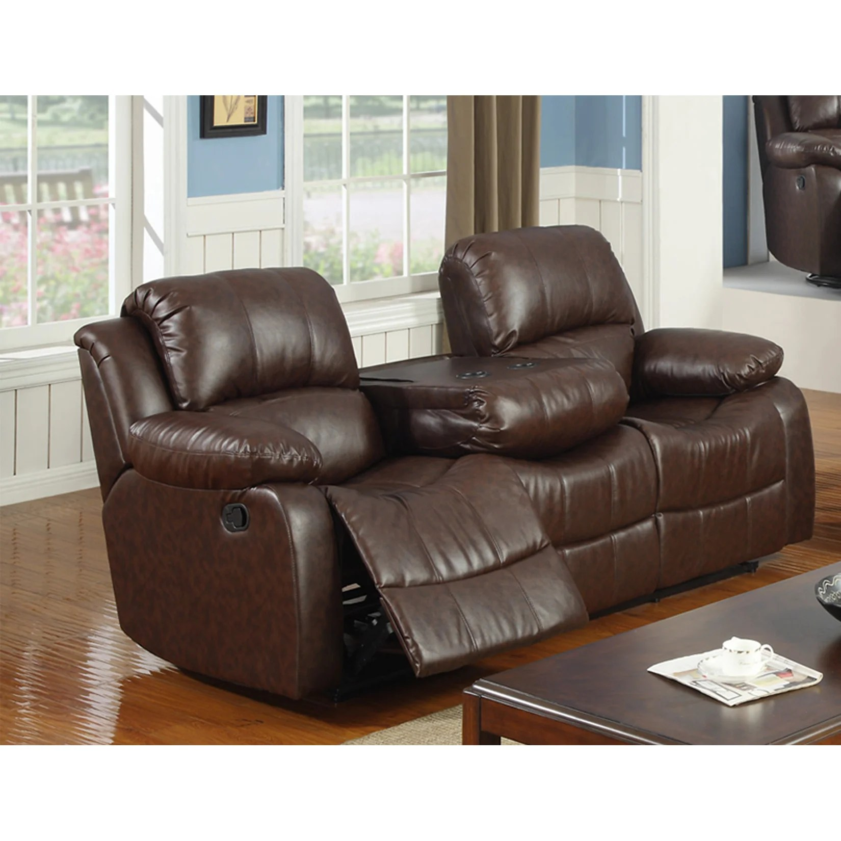 Best Quality Furniture Bonded Leather Recliner Sofa Wayfair Sc 1 St
