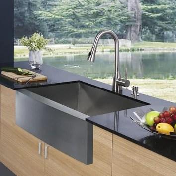 Vigo 33 X 2225 Farmhouse Single Bowl Kitchen Sink With