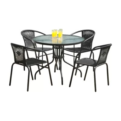 SunTime Outdoor Living Bambi 5 Piece Dining Set & Reviews ... on Suntime Outdoor Living  id=44718