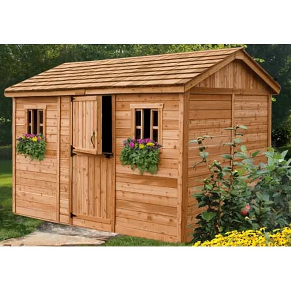 Cabana 12 Ft. W x 8 Ft. D Wood Garden Shed   Wayfair on Outdoor Living Today Cabana id=48390