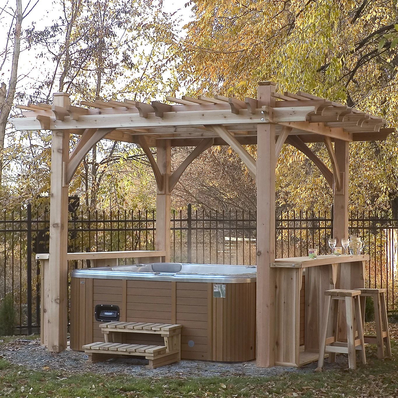 Breeze Spa 12 Ft. W x 11 Ft. D Pergola | Wayfair on Outdoor Living Spa id=81549