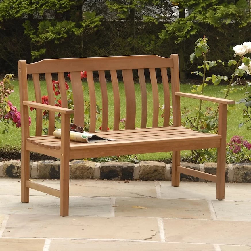 SunTime Outdoor Living Highland Nyatta Wood Garden Bench ... on Suntime Outdoor Living id=52919