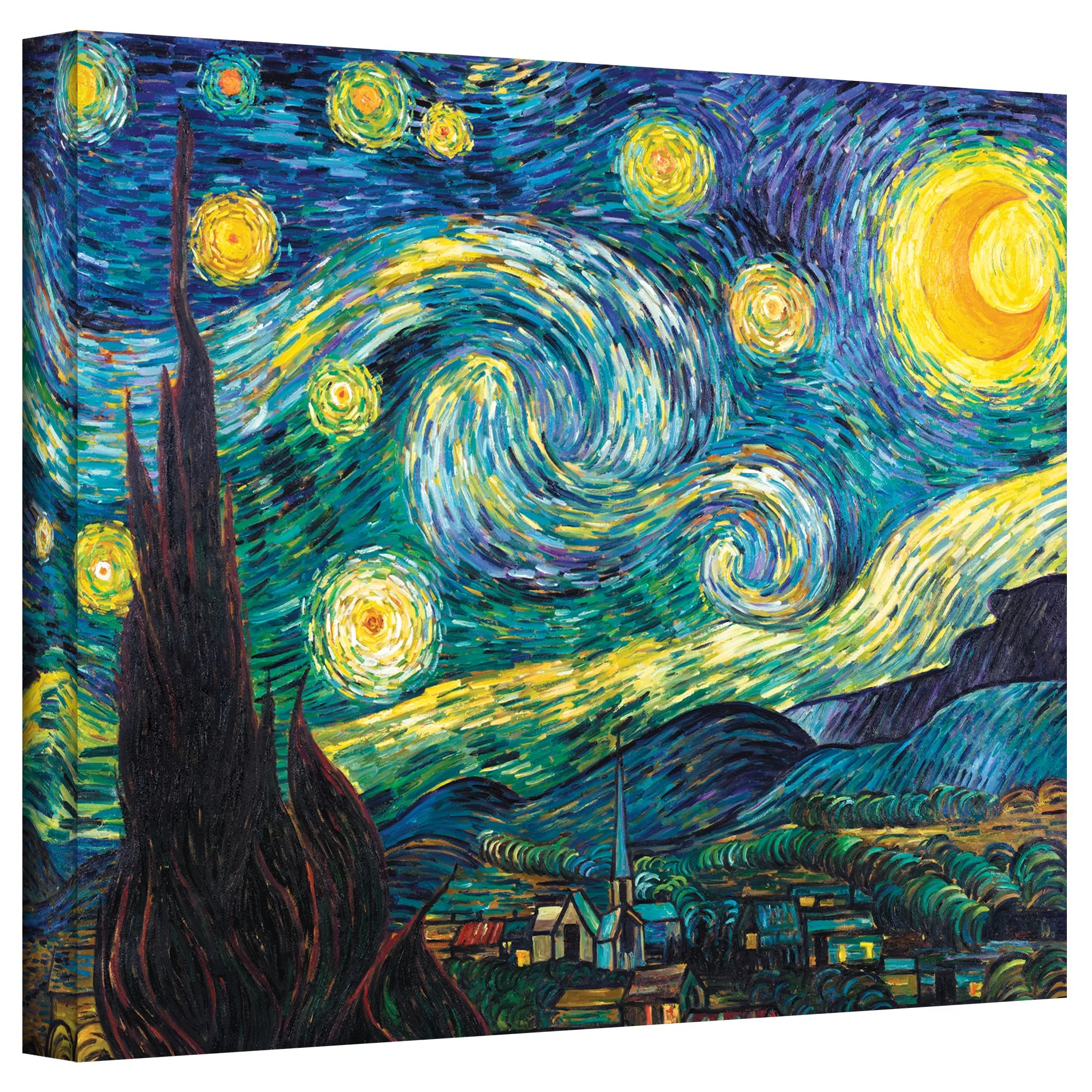 Alcott Hill Starry Night By Vincent Van Gogh Print Of