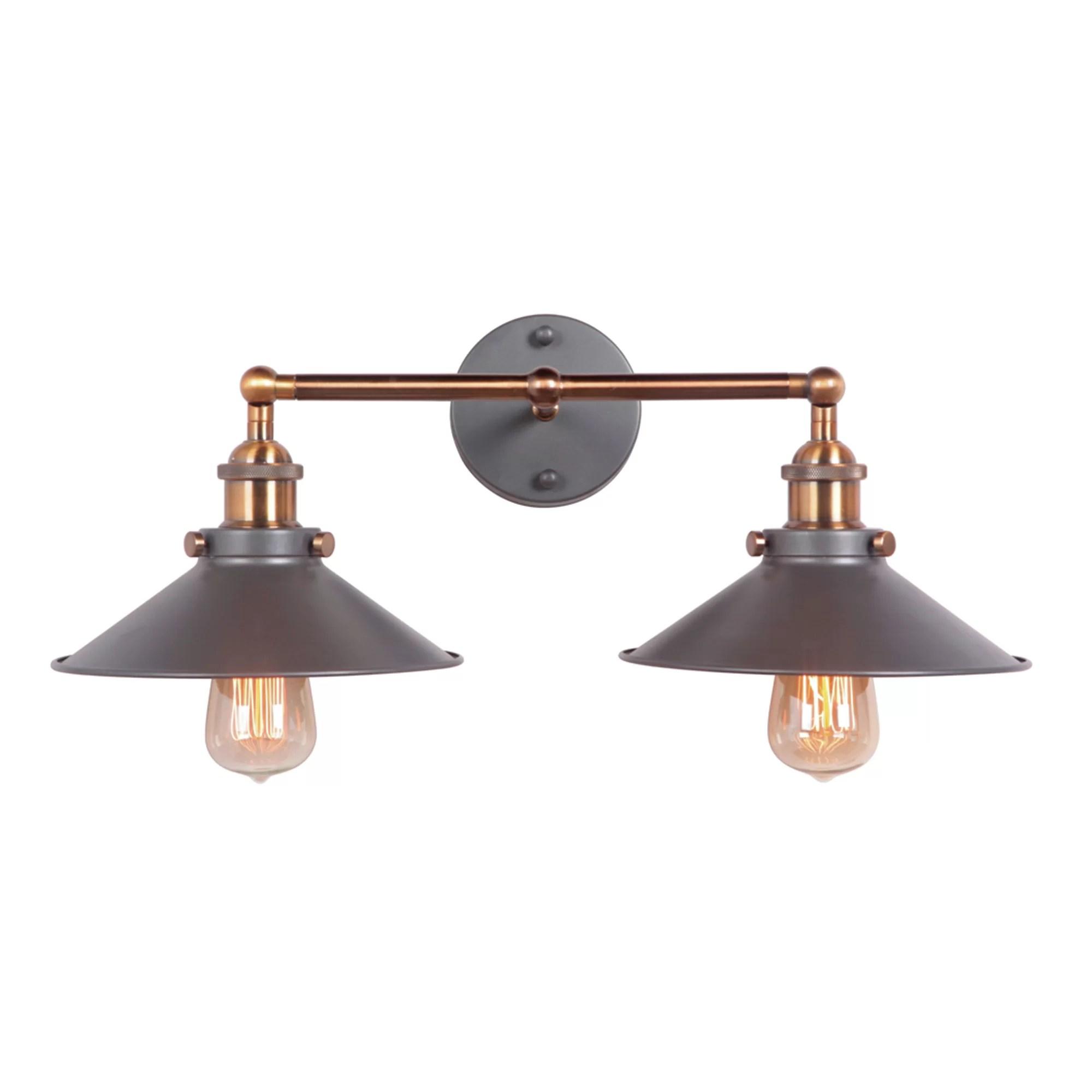 2 Light Wall Sconce | Wayfair on Wall Sconce Lighting Decor id=79667