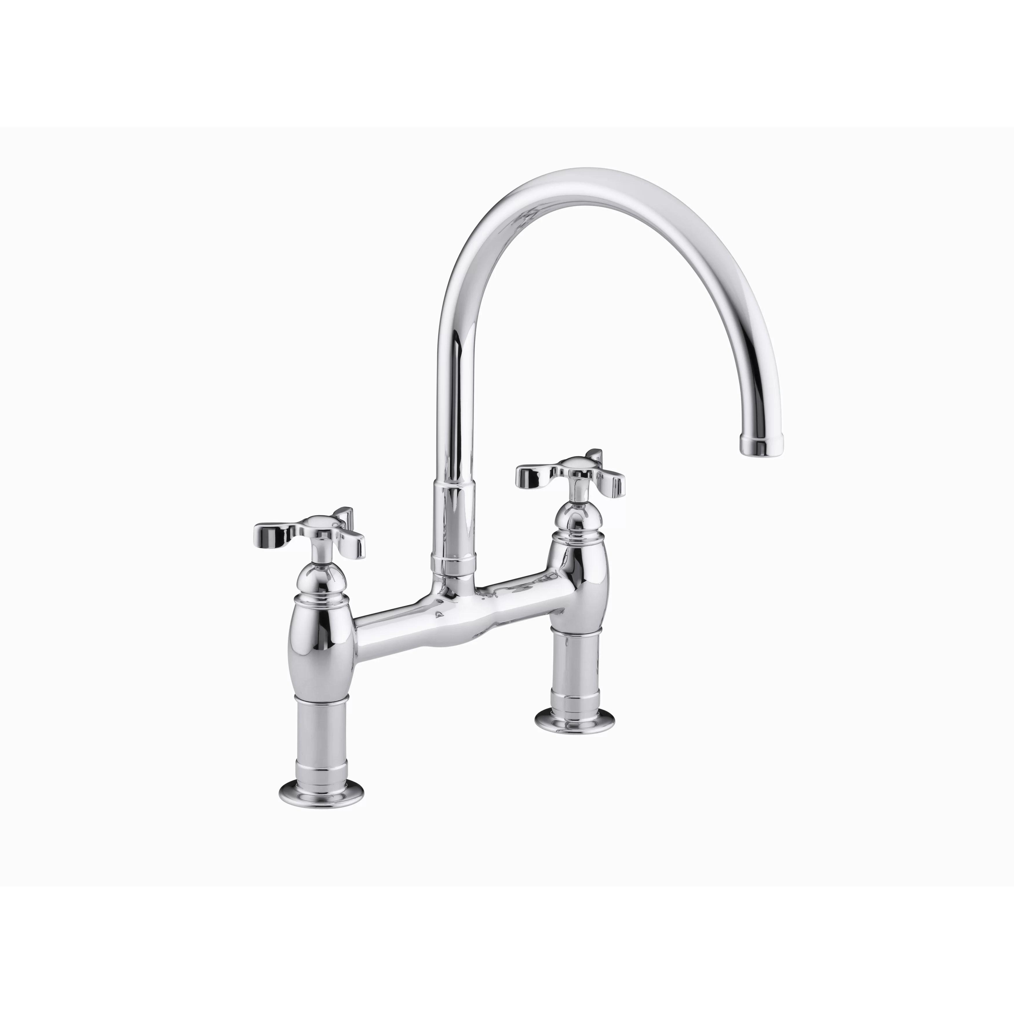 Kohler Parq Double Handle Deck Mount Kitchen Faucet