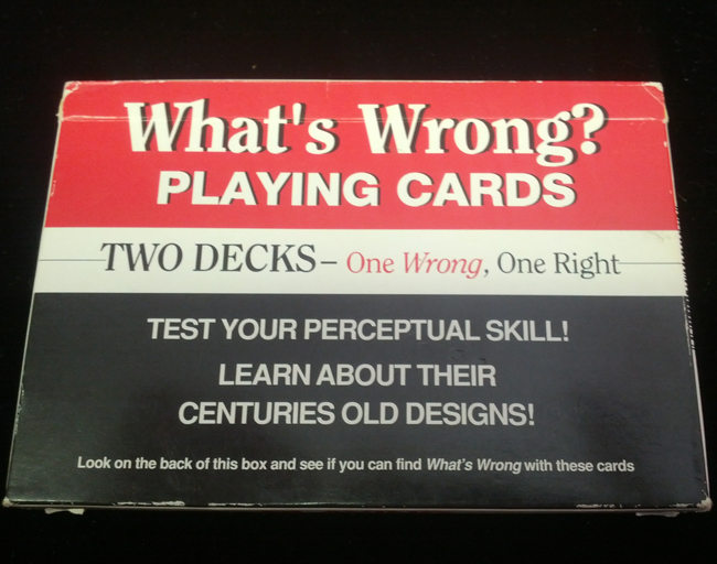 What's Wrong Playing Cards - Vintage