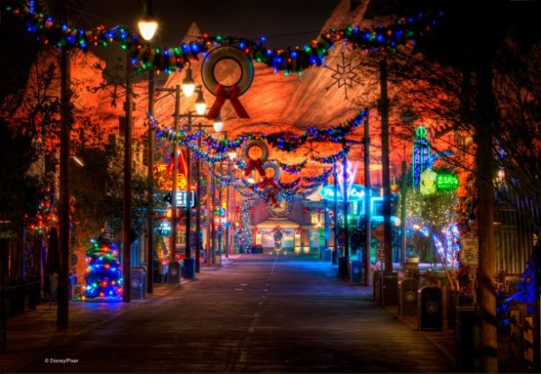 Holidays Shine Bright in Cars Land at Disney California ...