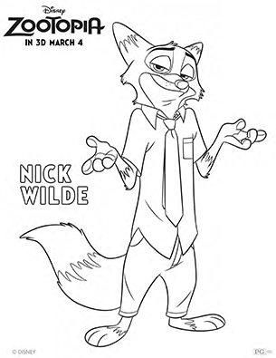 Coloring Page Zootopia : Zootopia coloring fun