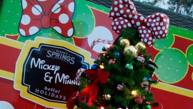 Mickey and Minnie Christmas Tree at Disney Springs