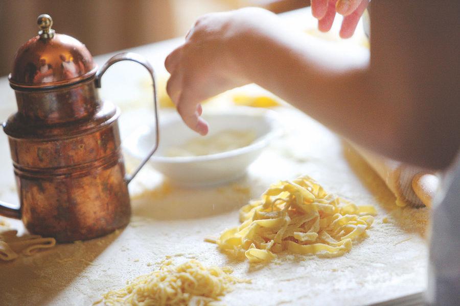Fattoria Poggio Alloro – Pasta-making activity on Adventures by Disney Italy vacation