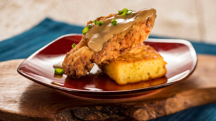 Crispy Chicken with Griddled Cornbread and Red-Eye Gravy