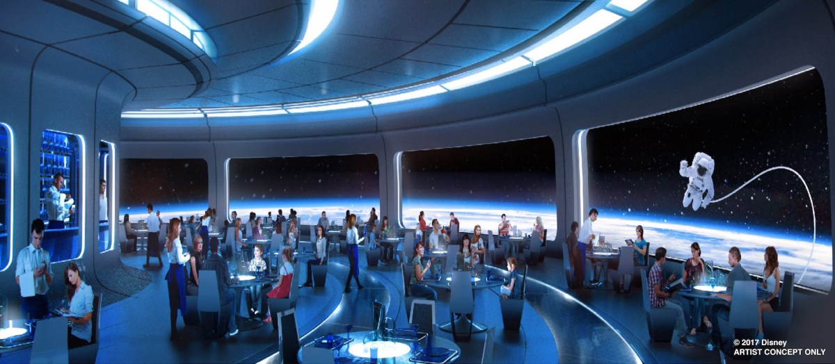 Content owned by Disney - New Space themed restaurant next to Mission Space at Epcot in Walt Disney World Resort