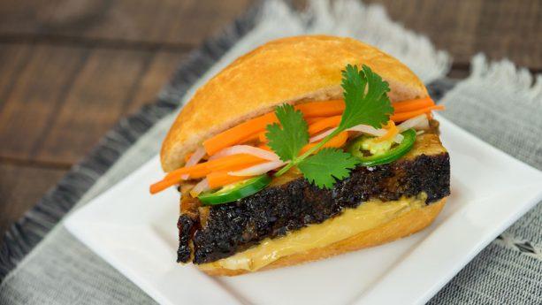 Black Garlic Soy-Braised Pork Belly Banh Mi at Disney California Adventure Food & Wine Festival