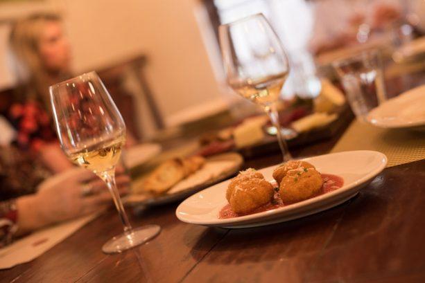 Crispy Mac & Cheese Bites at Wine Bar George Menu Preview