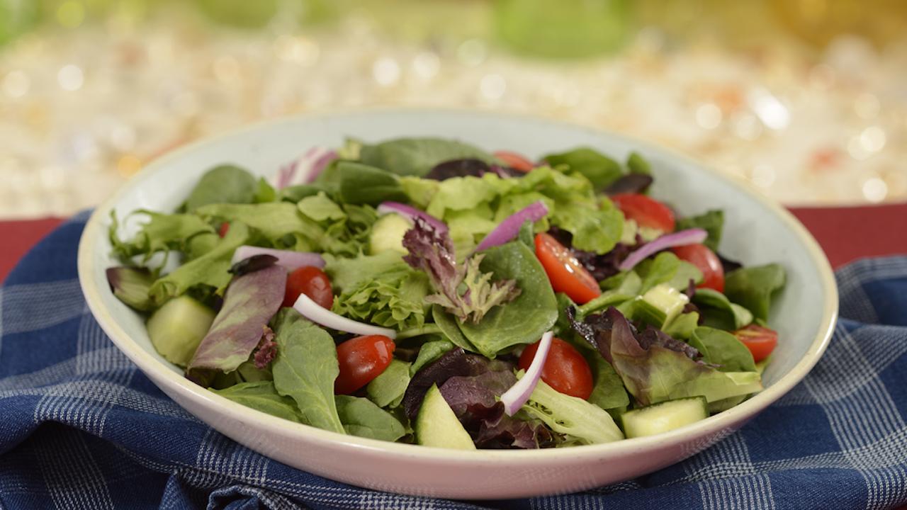 Mixed Green Salad at The Diamond Horseshoe at Magic Kingdom Park