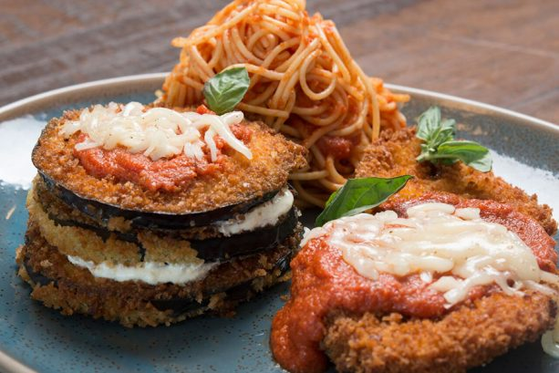 Chicken and Eggplant Parmigiana at Terralina Crafted Italian at Disney Springs