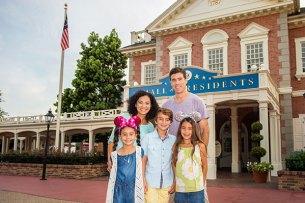 Family Photo in Liberty Square, Walt Disney World Resort