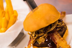 Drive-In BBQ Burger at Sci-Fi Dine-In Theater Restaurant at Disney's Hollywood Studios