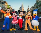 Goofy, Minnie, Mickey, Pluto, Donald