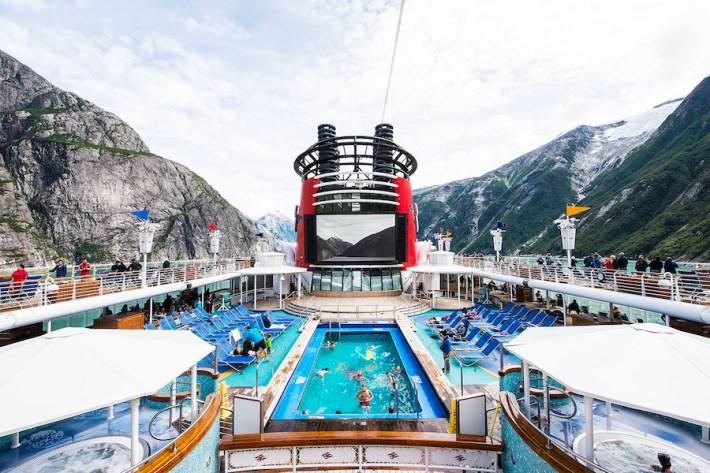 Pool on the Disney Wonder in Alaska
