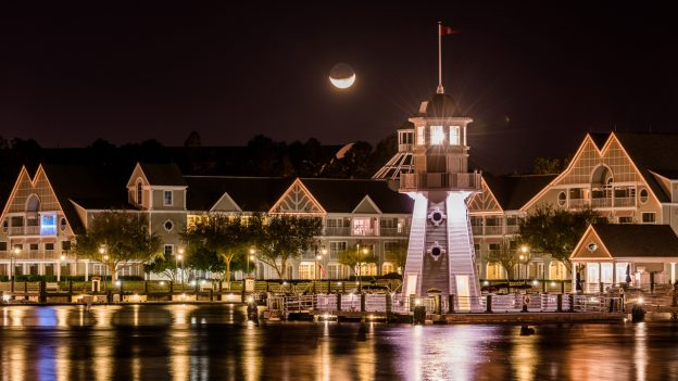 Disney's Yacht Club Resort By Moonlight