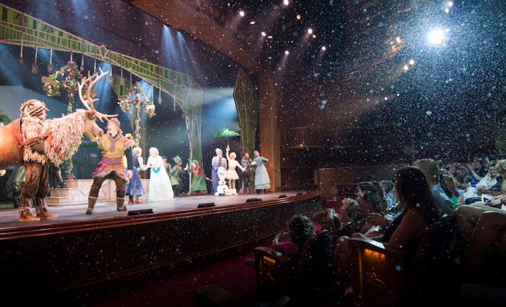 'Frozen, A Musical Spectacular' on the Disney Wonder