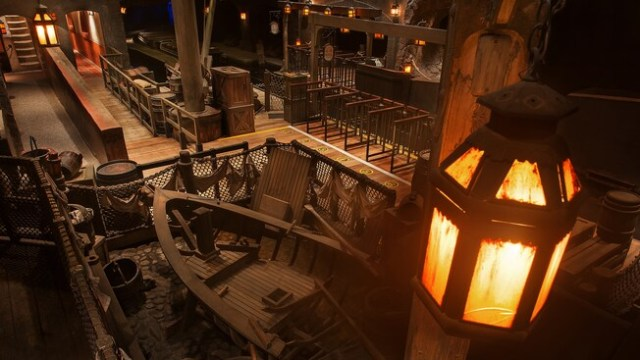 The loading dock at the Pirates of the Caribbean attraction in Adventureland