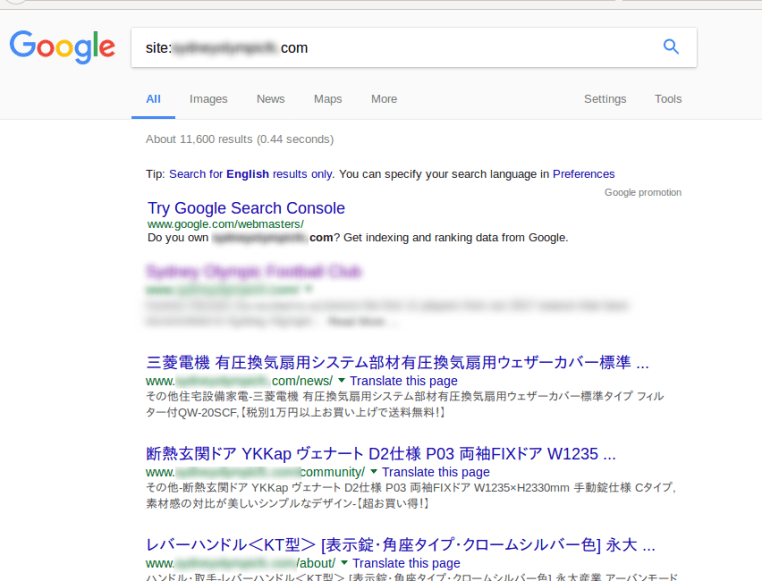 Wordpress Japanese Keyword Hack SEO Spam